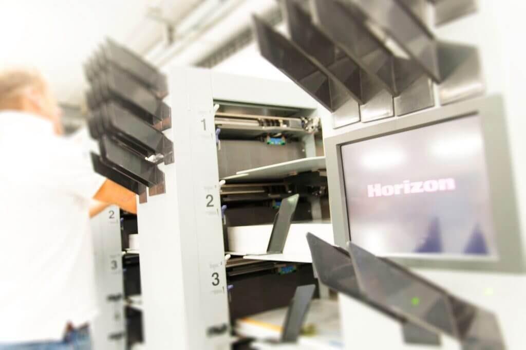 Façonnage avec la machine Horizon