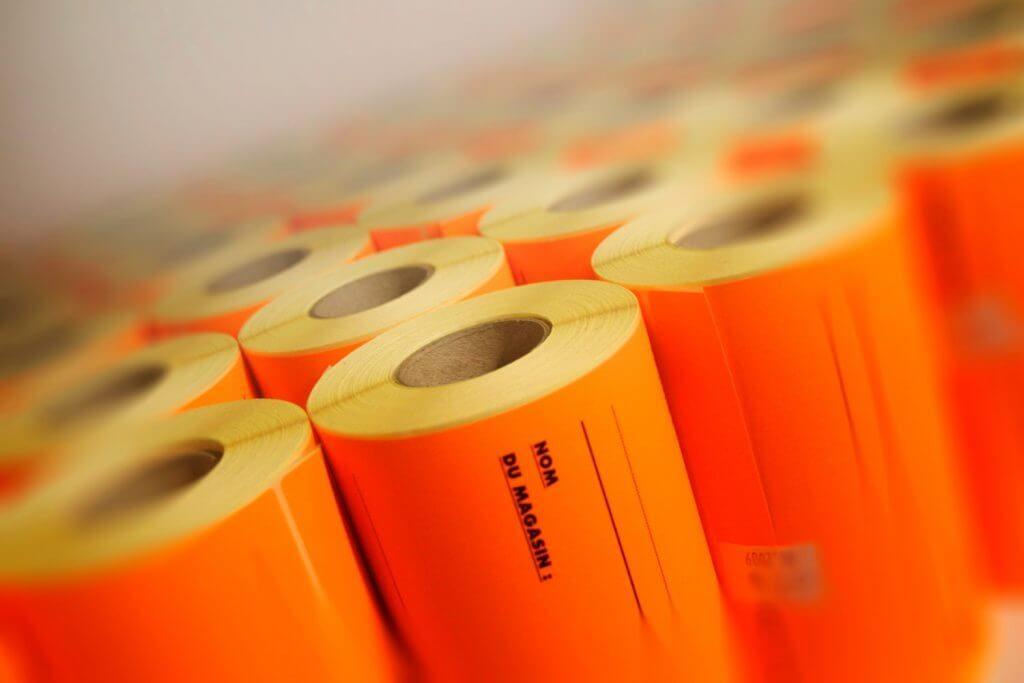 Rouleaux de films pour l'emballage avant l'expédition à l'imprimerie Anquetil