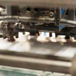 Vue sur une imprimante offset