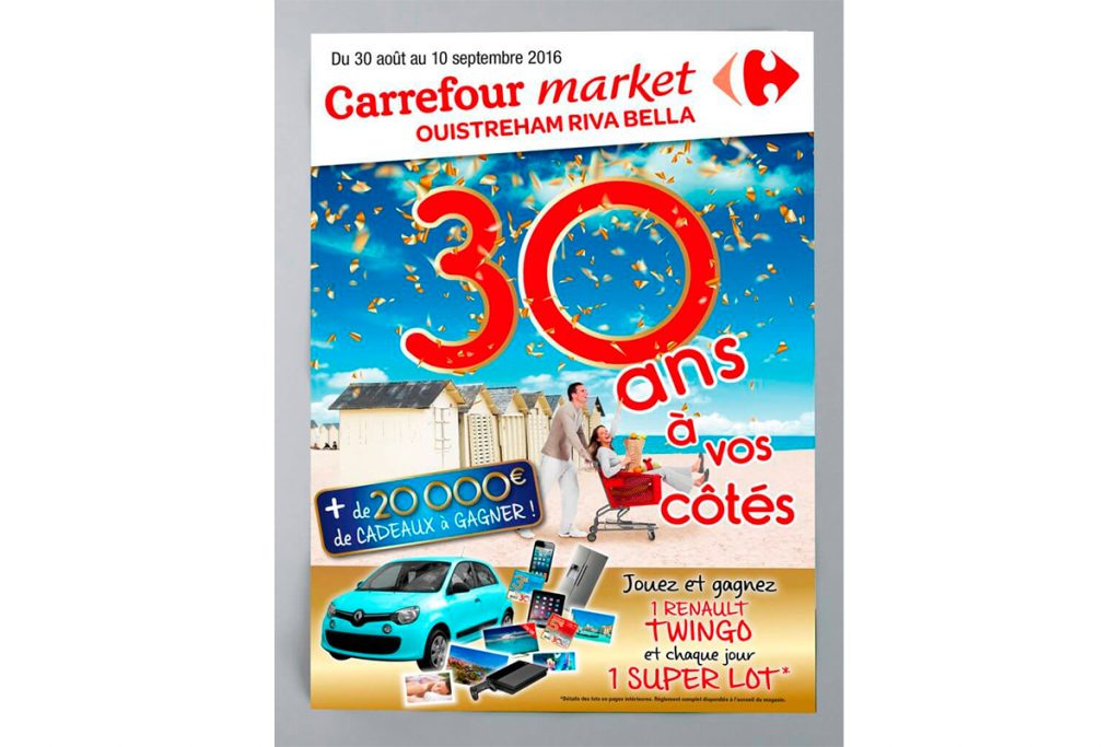 Impression de l'affiche Carrefour Ouistreham