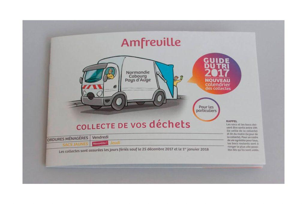 Impression de la brochure collecte de vos déchets pour Amfreville