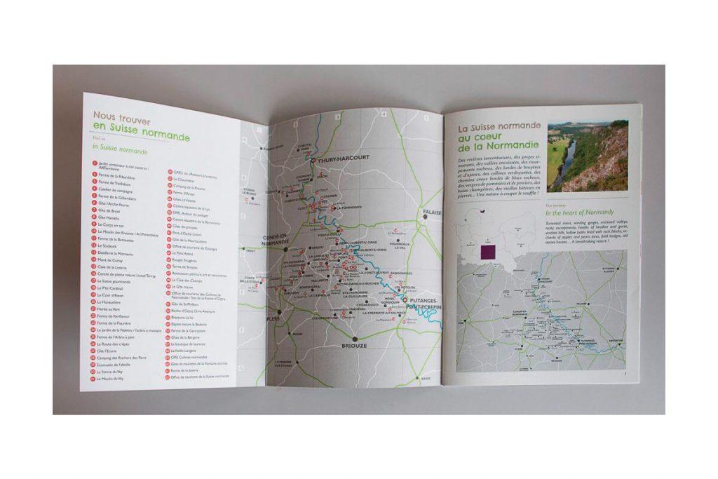 Impression d'une brochure pour la Suisse normande