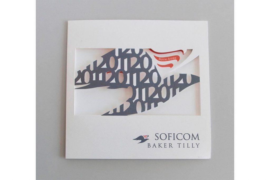 Impression de la carte de voeux de Soficom