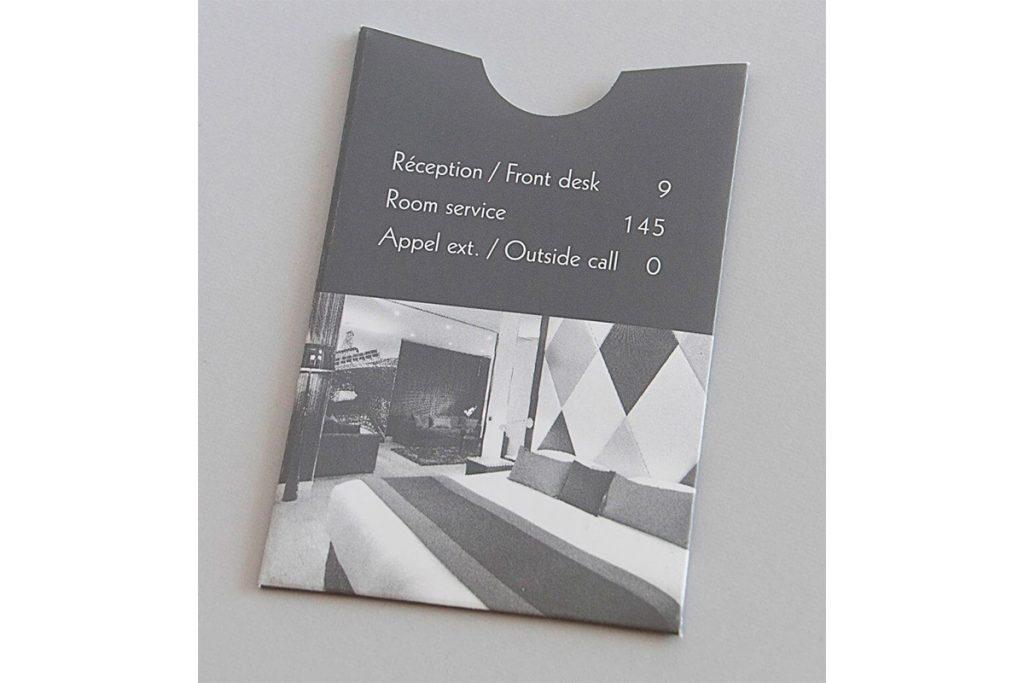 Carte de téléphone imprimée chez Anquetil